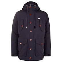 Buy Fred Perry Wadded Parka Jacket, Navy Online at johnlewis.com