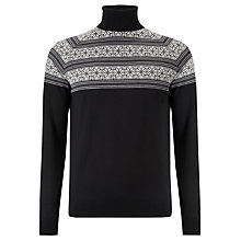 Buy John Smedley Miguel Apres Roll Neck, Charcoal Online at johnlewis.com