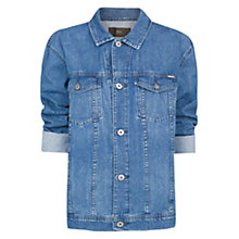 Buy Mango Oversize Denim Jacket, Blue Online at johnlewis.com