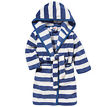 Buy John Lewis Stripe Fleece Robe, Blue/White Online at johnlewis.com