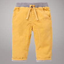 Buy John Lewis Baby Corduroy Trousers, Yellow Online at johnlewis.com