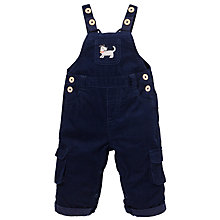 Buy John Lewis Corduroy Dungarees, Navy Online at johnlewis.com