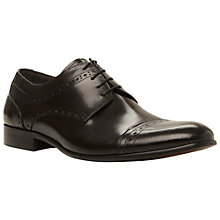 Buy Dune Aboard Leather Brogue Gibson Shoes, Black Online at johnlewis.com