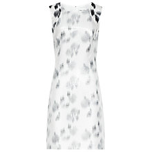 Buy Reiss Lurex Print Pamplona Shift Dress, Black/Cream Online at johnlewis.com