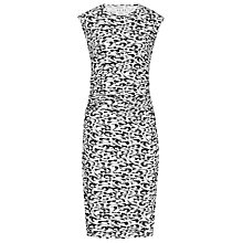 Buy Reiss Printed Jersey Rica Dress, Black/White Online at johnlewis.com