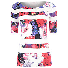 Buy Kaliko Frida Print Stripe Jumper, Multi Red Online at johnlewis.com
