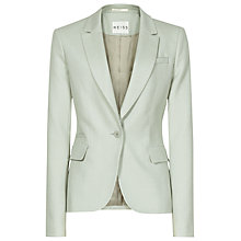 Buy Reiss Textured Tailored Raffa Jacket, Green Mist Online at johnlewis.com