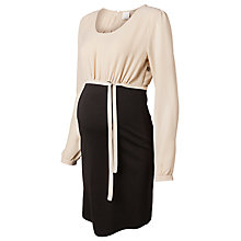 Buy Mamalicious Liv Two-Tone Dress, Sand/Black Online at johnlewis.com