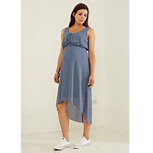 Buy Mamalicious Nala Chiffron Maternity Dress, Flintstone Online at johnlewis.com