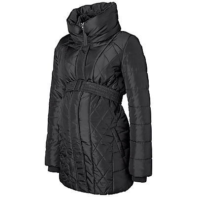 Mamalicious Yasmin Padded Quilt Maternity Jacket, Black