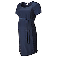 Buy Mamalicious Lucy Lace Panel Maternity Dress, Navy Online at johnlewis.com