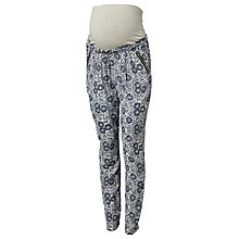 Buy Mamalicious Winna Loose-Fit Trousers, Whitecap Grey Online at johnlewis.com