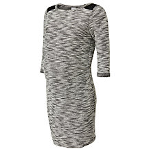 Buy Mamalicious Zenia Textured Bodycon Maternity Dress, Grey Online at johnlewis.com