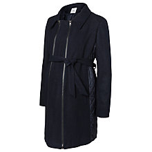 Buy Mamalicious Sigga Wool-Blend Coat, Navy Online at johnlewis.com