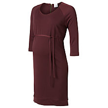 Buy Mamalicious Lima Jersey Maternity Dress, Wine Online at johnlewis.com