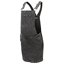 Buy Mamalicious Olivia Denim Dungaree Dress, Washed Black Online at johnlewis.com