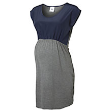 Buy Mamalicious Melanie Short Sleeve Maternity Dress, Navy/Grey Online at johnlewis.com