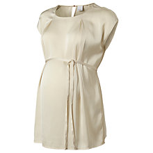 Buy Mamalicious Tama Pleat Detail Tunic Top, Cream Online at johnlewis.com
