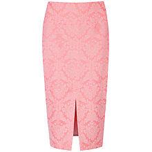 Buy Ted Baker Neon Jacquard Wenona Skirt, Fuchsia Online at johnlewis.com