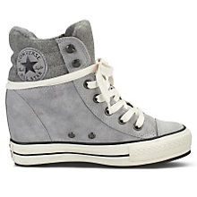 Buy Converse Chuck Taylor All Stars Burnished Suede Trainers, Grey Online at johnlewis.com
