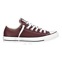 Buy Converse Chuck Taylor All Star Trainers, Red Leather Online at johnlewis.com