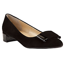 Buy Pete Kaiser Joan Pointed Leather Court Shoes, Black Online at johnlewis.com