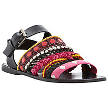 Buy Bertie Jaipur Flat Leather Embellished Sandals Online at johnlewis.com