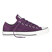 Buy Converse Chuck Taylor All Star Suede Trainers, Elderberry Purple Online at johnlewis.com