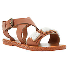 Buy Bertie Joules Oversized Jewel Leather Flat Sandals Online at johnlewis.com