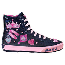 Buy Lelli Kelly Children's Glitter Amy Trainers, Navy Online at johnlewis.com