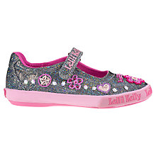 Buy Lelli Kelly Glittler Olivia Shoes, Pewter/Pink Online at johnlewis.com