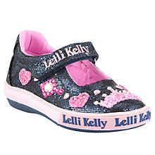 Buy Lelli Kelly Childrens' Glitter Amy Dolly Shoes, Navy Online at johnlewis.com