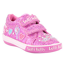 Buy Lelli Kelly Childrens' Glitter Amy Trainers, Pink Online at johnlewis.com
