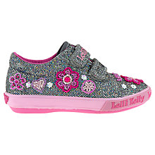 Buy Lelli Kelly Glitter Olivia Trainers, Pewter/Pink Online at johnlewis.com