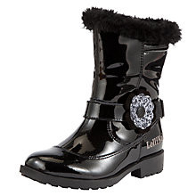 Buy Lelli Kelly Children's Gwen Boots, Black Patent Online at johnlewis.com