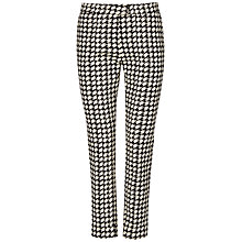Buy Jaeger Dogtooth Trouser, White/Navy Online at johnlewis.com