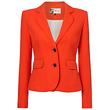Buy Jaeger Single Breasted Blazer, Red Online at johnlewis.com