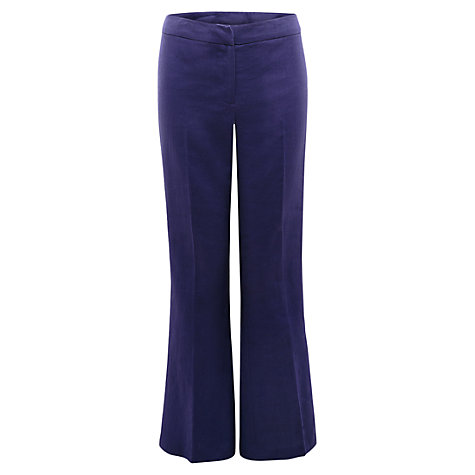 Buy East Victoire Wide Leg Linen Trousers, Atlantic Online at johnlewis.com