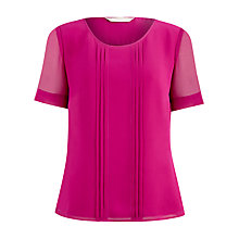 Buy Planet Pintuck Detail Blouse, Cerise Online at johnlewis.com