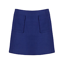 Buy Jaeger Textured Pocket Mini Skirt, Electric Purple Online at johnlewis.com
