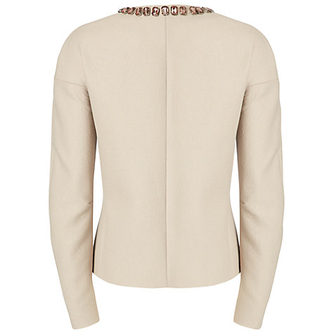 Buy Jaeger Embellished Dropped Sleeve Jacket, Stone Online at johnlewis.com