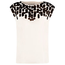 Buy Planet Embellished Blouse, Champagne Online at johnlewis.com