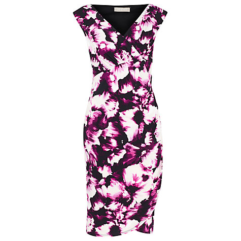 Buy Planet Floral Print Shift Dress, Cerise Online at johnlewis.com