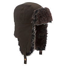 Buy John Lewis Wax Trapper Hat, Khaki Online at johnlewis.com