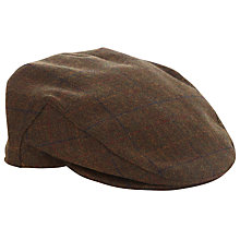 Buy John Lewis Tweed Flat Cap, Brown Online at johnlewis.com