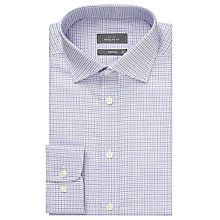 Buy John Lewis Twill Micro Check Shirt, Purple Online at johnlewis.com