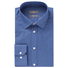 Buy John Lewis Fine Check Tailored Shirt, Navy Online at johnlewis.com