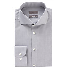 Buy John Lewis Herringbone Tailored Shirt, Grey Online at johnlewis.com