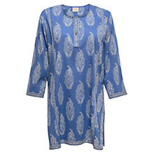Buy East Rambagh Print Kurta, Ocean Online at johnlewis.com