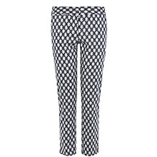 Buy Warehouse Floral Geo Print Trousers, Blue Online at johnlewis.com
